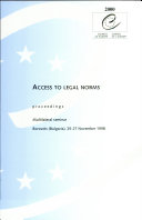 Access to Legal Norms