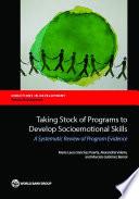Taking Stock of Programs to Develop Socioemotional Skills