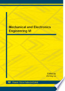 Mechanical and Electronics Engineering VI