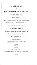 Memoirs of Dr. Joseph Priestley to the Year 1795