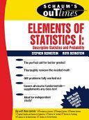 Schaum s Outline of Elements of Statistics I  Descriptive Statistics and Probability
