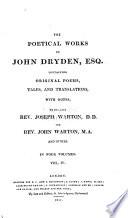 The Poetical Works of John Dryden, Esq