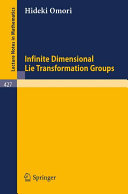 Infinite dimensional Lie transformations groups