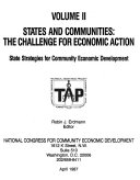 States and Communities  State strategies for community economic development