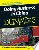 """Doing Business in China For Dummies"" by Robert Collins, Carson Block"