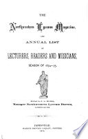 The Northwestern Lyceum Magazine and     List of Lecturers  Readers and Musicians
