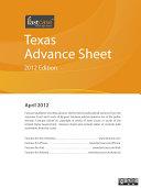 Texas Advance Sheet April 2012