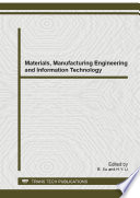 Materials  Manufacturing Engineering And Information Technology