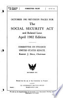 The Social Security Act And Related Laws As Amended