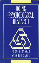Doing Psychological Research Book