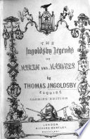 The Ingoldsby Legends     Second edition  First series  With illustrations by George Cruikshank and John Leech