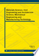 Materials Science Civil Engineering And Architecture Science Mechanical Engineering And Manufacturing Technology Book PDF