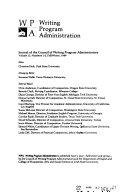 WPA  Writing Program Administration