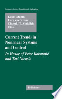 Current Trends In Nonlinear Systems And Control Book PDF