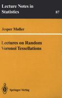 Pdf Lectures on Random Voronoi Tessellations Telecharger