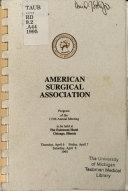 Program of the 115th Annual Meeting