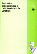 Seed Policy And Programmes In Latin America And The Caribbean