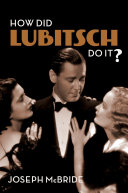 Pdf How Did Lubitsch Do It? Telecharger
