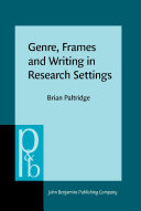 Genre  Frames and Writing in Research Settings