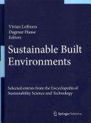 Sustainable Built Environments Book