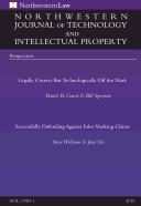 Northwestern Journal of Technology   Intellectual Property  Vol  9  No  1