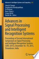 Advances In Signal Processing And Intelligent Recognition Systems Book PDF