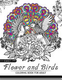 Easy Flower and Birds Coloring Book for Adult