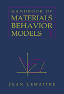 Handbook of Materials Behavior Models  Three Volume Set