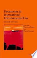 Documents In International Environmental Law Book PDF