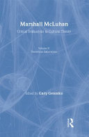 Marshall McLuhan: Theoretical elaborations