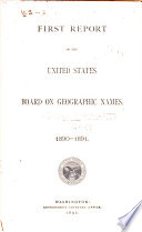 Report of the United States Board on Geographic Names