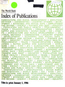 Index of Publications