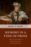 Memory in a Time of Prose Pdf/ePub eBook