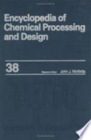 Encyclopedia Of Chemical Processing And Design Book PDF