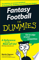 """""""Fantasy Football For Dummies"""" by Martin Signore"""