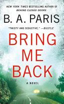Bring Me Back Pdf/ePub eBook
