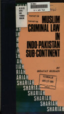Muslim Criminal Law In Indo Pakistan Sub Continent