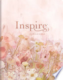Inspire Catholic Bible NLT Large Print  Leatherlike  Pink Fields with Rose Gold   The Bible for Coloring   Creative Journaling Book