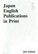 Japan English Publications in Print, 1993