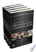 The International Encyclopedia Of Organizational Communication 4 Volume Set Book