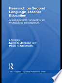Research on Second Language Teacher Education