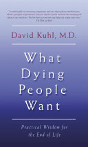 What Dying People Want Pdf/ePub eBook