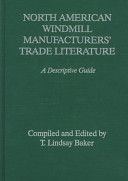 North American Windmill Manufacturers  Trade Literature