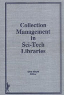 Collection Management in Sci-tech Libraries