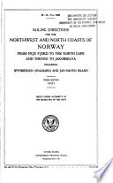 Sailing Directions for the Northwest and North Coasts of Norway Book