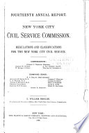 Annual Report of the Municipal Civil Service Commission of the City of New York