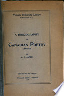 A Bibliography of Canadian Poetry  English