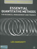Essential Quantitative Methods for Business  Management and Finance  Third Edition