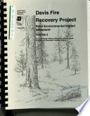 Deschutes National Forest (N.F.), Davis Fire Recovery Project, Klamath and Deschutes Counties