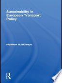 Sustainability in European Transport Policy Book